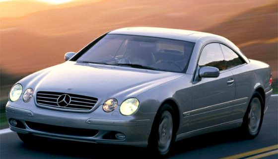 CL-class, CL 600, driving shot, from in front, silver metallic